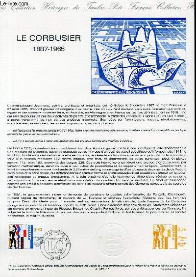 DOCUMENT PHILATELIQUE OFFICIEL N°16-87 - LE CORBUSIER 1887-1965 (N°2470 YVERT ET TELLIER)