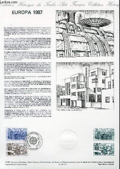 DOCUMENT PHILATELIQUE OFFICIEL N°17-87 - EUROPA 1987 (2471-72 YVERT ET TELLIER)