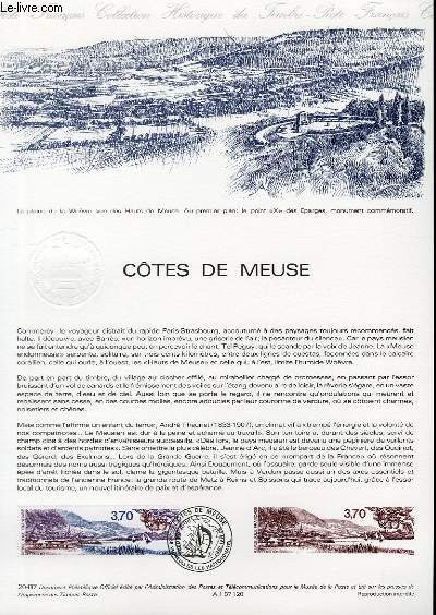 DOCUMENT PHILATELIQUE OFFICIEL N°20-87 - COTES DE MEUSE (N°2466 YVERT ET TELLIER)