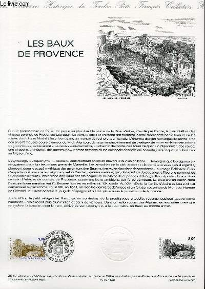 DOCUMENT PHILATELIQUE OFFICIEL N�28-87 - LES BAUX DE PROVENCE (N�2465 YVERT ET TELLIER)