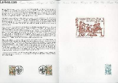 DOCUMENT PHILATELIQUE OFFICIEL N°34-87 - GUILLAUME LE CONQUERANT - TAPISSERIE DE BAYEUX (N°2492 YVERT ET TELLIER)