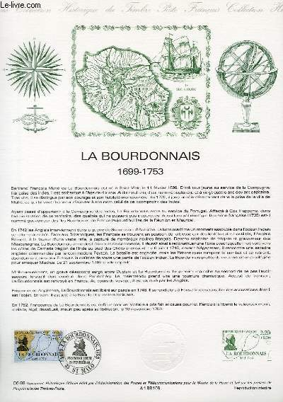 DOCUMENT PHILATELIQUE OFFICIEL N°06-88 - LA BOURDONNAIS 1699-1753 (N°2520 YVERT ET TELLIER)