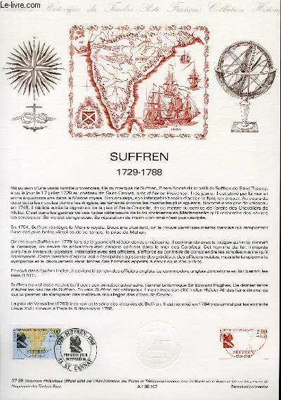 DOCUMENT PHILATELIQUE OFFICIEL N°07-88 - SUFFREN 1729 - 1788 (N°2518 YVERT ET TELLIER)