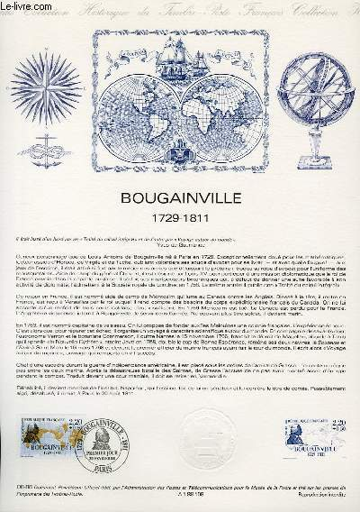 DOCUMENT PHILATELIQUE OFFICIEL N°08-88 - BOUGAINVILLE 1729-1811 (N°2521 YVERT ET TELLIER)