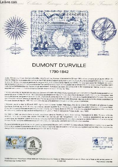 DOCUMENT PHILATELIQUE OFFICIEL N°10-88 - DUMONT D'URVILLE 1790-1842 (N°2522 YVERT ET TELLIER)