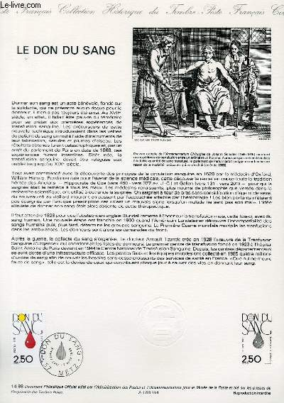DOCUMENT PHILATELIQUE OFFICIEL N°14-88 - LE DON DU SANG (N°2528 YVERT ET TELLIER)