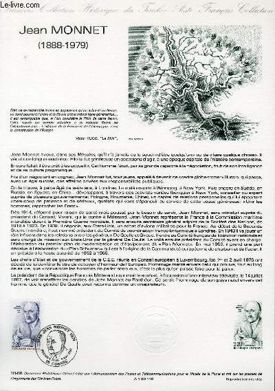 DOCUMENT PHILATELIQUE OFFICIEL N°18-88 - JEAN MONNET (1888-1978) (N°2533 YVERT ET TELLIER)