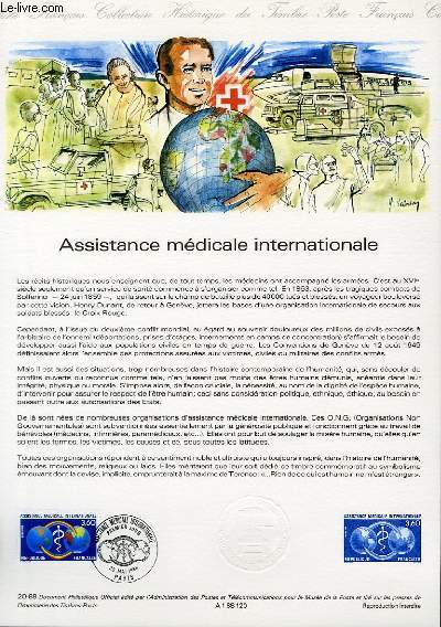 DOCUMENT PHILATELIQUE OFFICIEL N°20-88 - ASSISTANCE MEDICALE INTERNATIONALE (N°2535 YVERT ET TELLIER)