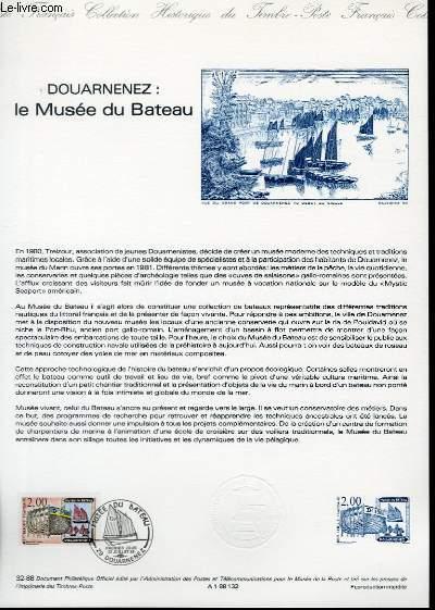 DOCUMENT PHILATELIQUE OFFICIEL N°32-88 - DOUARNENEZ : LE MUSEE DU BATEAU (N°2545 YVERT ET TELLIER)
