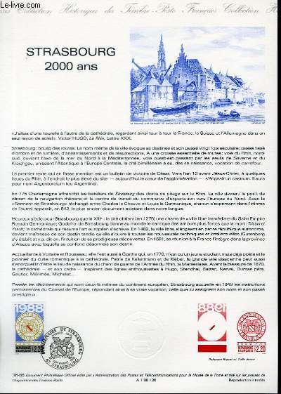 DOCUMENT PHILATELIQUE OFFICIEL N°36-88 - STRASBOURG 2000 ANS (N°2552 YVERT ET TELLIER)