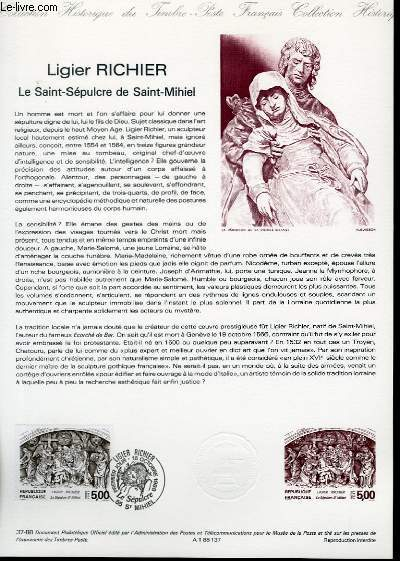 DOCUMENT PHILATELIQUE OFFICIEL N�37-88 - LIGIER RICHIER - LE SAINT SEPULCRE DE SAINT-MICHEL (N�2553 YVERT ET TELLIER)