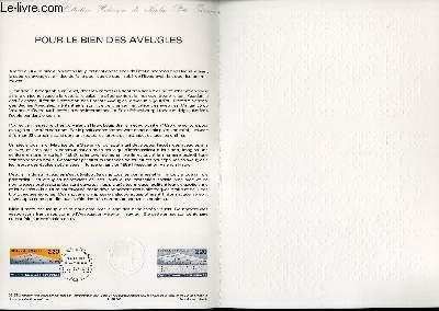 DOCUMENT PHILATELIQUE OFFICIEL N°03-89 - POUR LES BIEN DES AVEUGLES (N°2562 YVERT ET TELLIER)