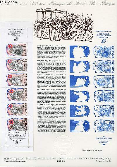 DOCUMENT PHILATELIQUE OFFICIEL N�13-89 - BICENTENAIRE DE LA REVOLUTION FRANCAISE (N�2570 YVERT ET TELLIER)