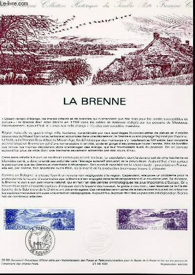 DOCUMENT PHILATELIQUE OFFICIEL N°30-89 - LA BRENNE (N°2601 YVERT ET TELLIER)