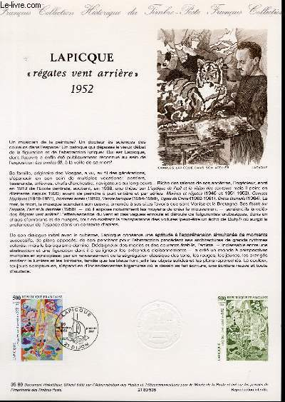 DOCUMENT PHILATELIQUE OFFICIEL N�35-89 - LAPICQUE