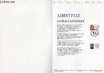DOCUMENT PHILATELIQUE OFFICIEL N°04-90 - ALBERTVILLE - PATINAGE ARTISTIQUE (N°2633 YVERT ET TELLIER)