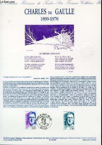 DOCUMENT PHILATELIQUE OFFICIEL N°06-90 - CHARLES DE GAULLE 1890-1970 (N°2634 YVERT ET TELLIER)