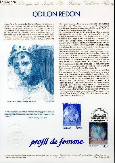 DOCUMENT PHILATELIQUE OFFICIEL N°07-90 - ODILE REDON (N°2635 YVERT ET TELLIER)