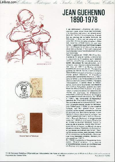 DOCUMENT PHILATELIQUE OFFICIEL N°11-90 - JEAN GUEHENNO 1890-1978 (N°2641 YVERT ET TELLIER)