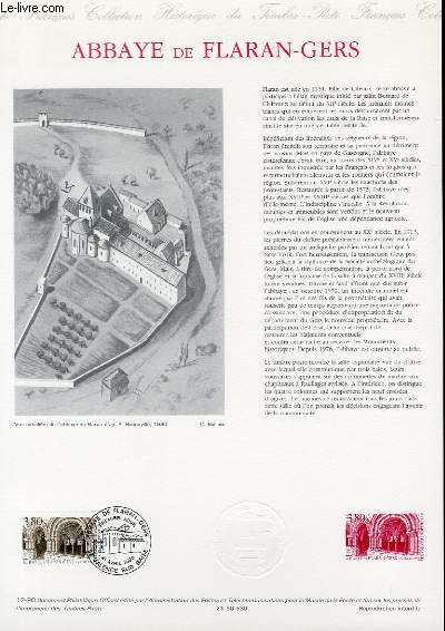DOCUMENT PHILATELIQUE OFFICIEL N°12-90 - ABBAYE DE FLARAN-GERS (N°2659 YVERT ET TELLIER)
