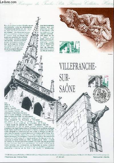 DOCUMENT PHILATELIQUE OFFICIEL N°17-90 - VILLEFRANCHE SUR SAONE (N°2647 YVERT ET TELLIER)