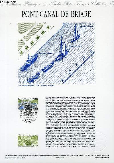 DOCUMENT PHILATELIQUE OFFICIEL N�28-90 - PONT CANAL DE BRIARE (N�2658 YVERT ET TELLIER)