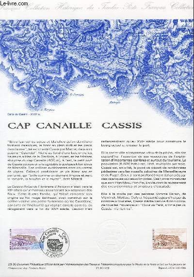 DOCUMENT PHILATELIQUE OFFICIEL N�29-90 - CAP CANAILLE CASSIS (N�2660 YVERT ET TELLIER)