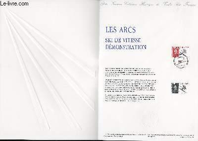 DOCUMENT PHILATELIQUE OFFICIEL N°38-90 - JEUX OLYMPIQUES - LES ARCS - SKI DE VITESSE DEMONSTRATION (N°2672 YVERT ET TELLIER)