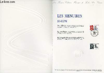 DOCUMENT PHILATELIQUE OFFICIEL N°01-91 - LES MENUIRES SLALOM (N°2676 YVERT ET TELLIER)