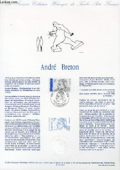 DOCUMENT PHILATELIQUE OFFICIEL N°03-91 - ANDRE BRETON (N°2682 YVERT ET TELLIER)