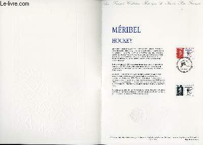 DOCUMENT PHILATELIQUE OFFICIEL N°08-91 - JEUX OLYMPIQUES - MERIBEL HOCKEY (N°2677 YVERT ET TELLIER)