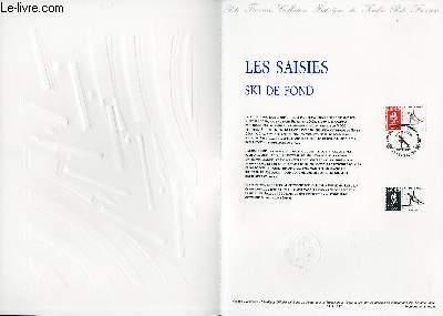 DOCUMENT PHILATELIQUE OFFICIEL N°09-91 - JEUX OLYMPIQUES - LES SAISIES - SKI DE FOND (N°2678 YVERT ET TELLIER)