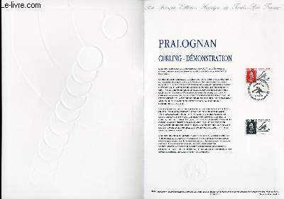 DOCUMENT PHILATELIQUE OFFICIEL N°18-91 - JEUX OLYMPIQUES - PRALOGNAN - CURLING - DEMONSTRATION (N°2680 YVERT ET TELLIER)