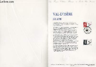 DOCUMENT PHILATELIQUE OFFICIEL N°28-91 - JEUX OLYMPIQUES - TIGNES SKI ARTISTIQUE (N°2709 YVERT ET TELLIER)