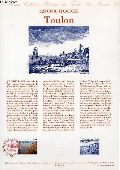 DOCUMENT PHILATELIQUE OFFICIEL N°41-91 - 16° JEUX OLYMPIQUES D'HIVER -CROIX ROUGE - PARCOURS DE LA FLAMME OLYMPIQUE (N°2732 YVERT ET TELLIER)