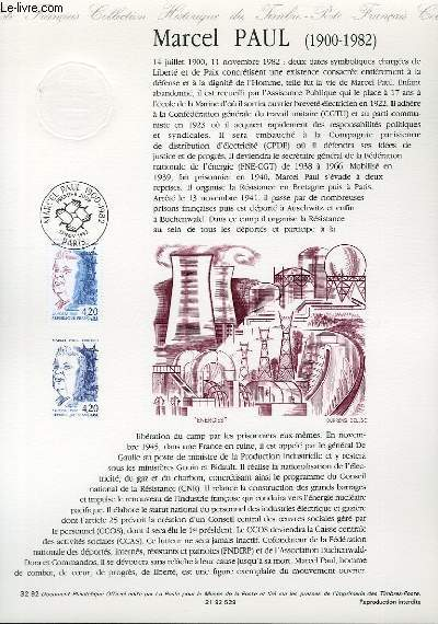 DOCUMENT PHILATELIQUE OFFICIEL N�32-92 - MARCEL PAUL 1900-1982 (N�2777 YVERT ET TELLIER)