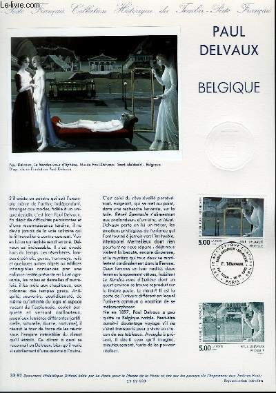 DOCUMENT PHILATELIQUE OFFICIEL N�33-92 - PAUL DELVAUX - BELGIQUE (N�2781 YVERT ET TELLIER)