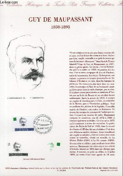 DOCUMENT PHILATELIQUE OFFICIEL - GUY DE MAUPASSANT 1850-1893 (N°2799 YVERT ET TELLIER)