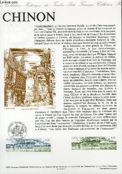 DOCUMENT PHILATELIQUE OFFICIEL - CHINON (N°2817 YVERT ET TELLIER)