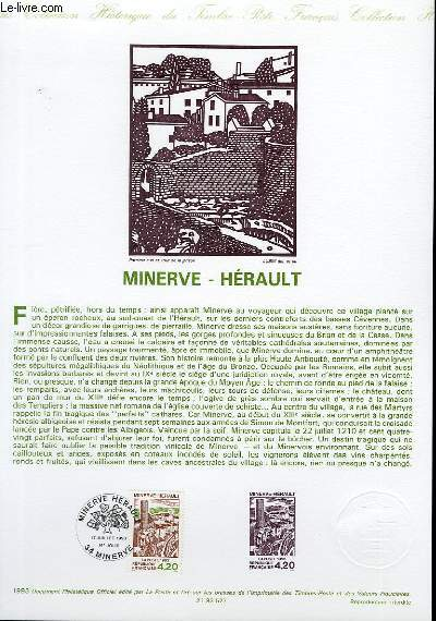 DOCUMENT PHILATELIQUE OFFICIEL - MINERVE - HERAULT (N°2818 YVERT ET TELLIER)