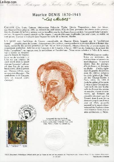 DOCUMENT PHILATELIQUE OFFICIEL - MAURICE DENIS 1870-1973