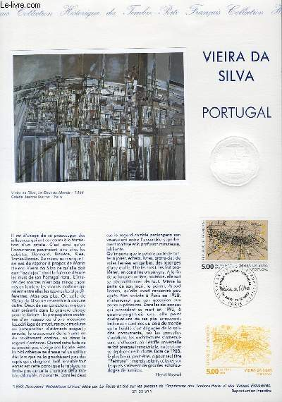 DOCUMENT PHILATELIQUE OFFICIEL - VIEIRA DA SILVA - PORTUGAL (N�2835 YVERT ET TELLIER)