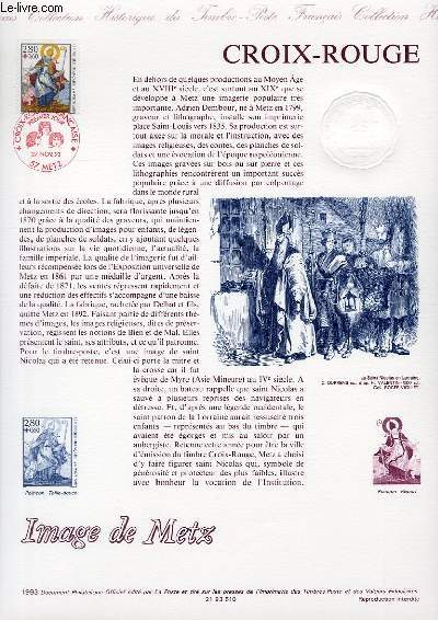 DOCUMENT PHILATELIQUE OFFICIEL - CROIX ROUGE - IMAGES DE METZ (N°2853 YVERT ET TELLIER)