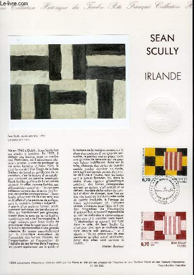 DOCUMENT PHILATELIQUE OFFICIEL - SEAN SCULLY - IRLANDE (N�2558 YVERT ET TELLIER)
