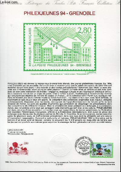 DOCUMENT PHILATELIQUE OFFICIEL - PHILEXJEUNES 94 - GRENOBLE