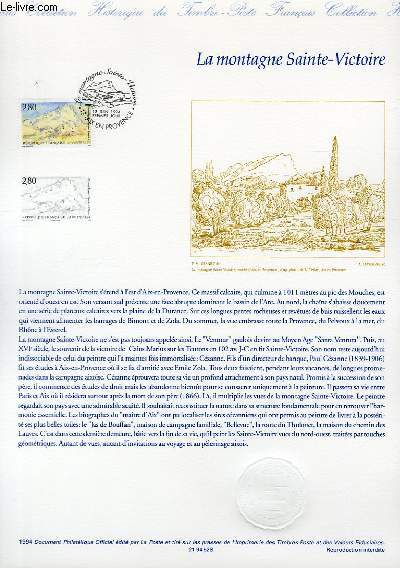 DOCUMENT PHILATELIQUE OFFICIEL - LA MONTAGNE SAINTE-VICTOIRE (N°2891 YVERT ET TELLIER)