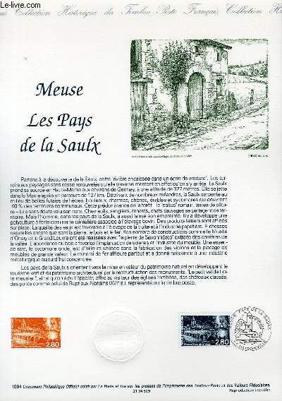 DOCUMENT PHILATELIQUE OFFICIEL - MEUSE LES PAUYS DE LA SAUX (N°2890 YVERT ET TELLIER)