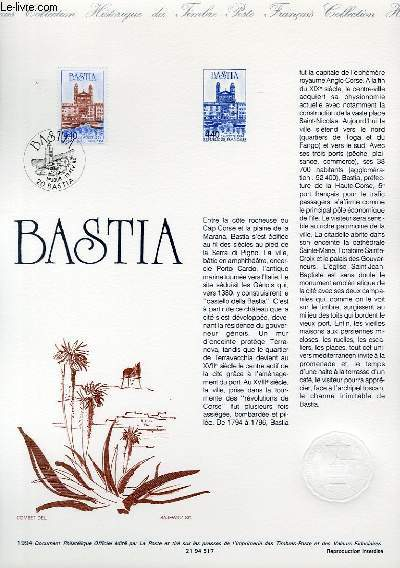 DOCUMENT PHILATELIQUE OFFICIEL - BASTIA (N�2893 YVERT ET TELLIER)