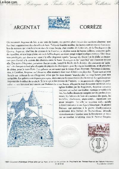 DOCUMENT PHILATELIQUE OFFICIEL - ARGENTAT CORREZE (N�2894 YVERT ET TELLIER)