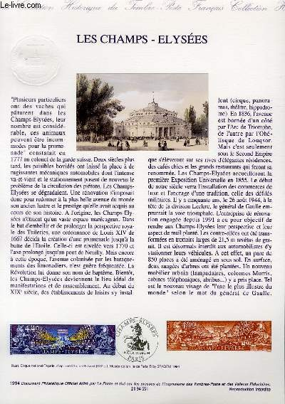 DOCUMENT PHILATELIQUE OFFICIEL - LES CHAMPS ELYSEES (N°2918 YVERT ET TELLIER)